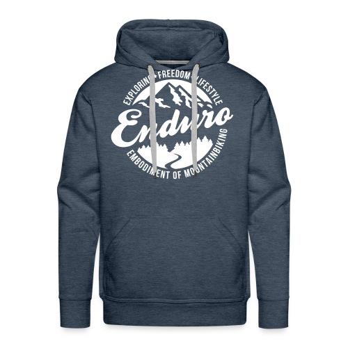 Enduro Mountainbiking Hoodie - Männer Premium Hoodie