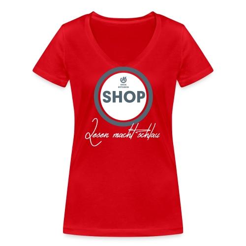 Frauen: Bookshop - Frauen Bio-T-Shirt mit V-Ausschnitt von Stanley & Stella