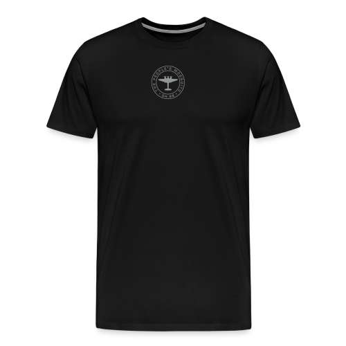 Men's Neck MP Logo T-Shirt - Black/Grey - Men's Premium T-Shirt