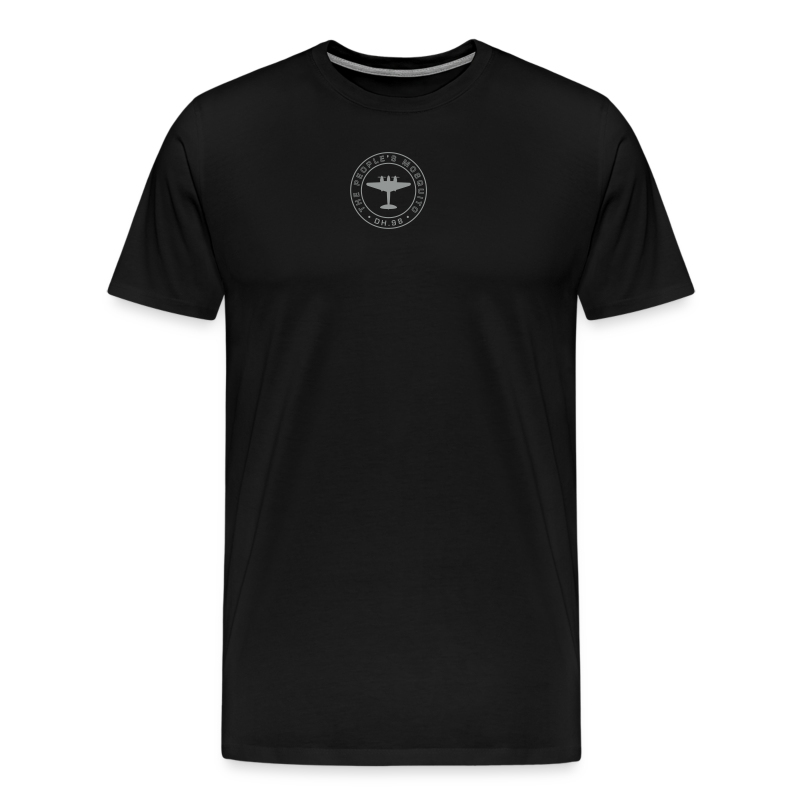 Men's Neck MP Logo T-Shirt - Black/Grey - Men's Premium T-Shirt
