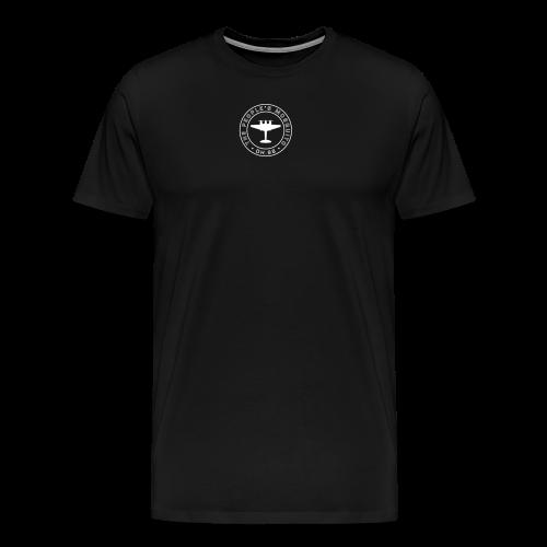 Men's Neck MP Logo T-shirt - Black/White - Men's Premium T-Shirt
