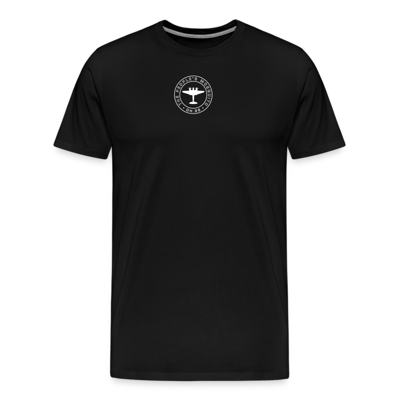 Men's Neck MP Logo T-shirt - Black/White - Men's Premium T-Shirt
