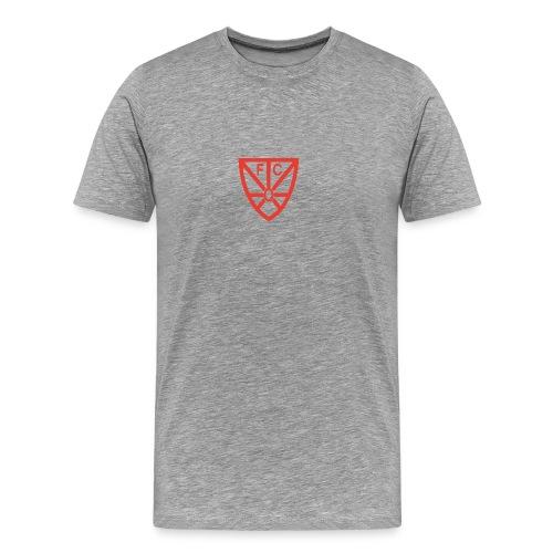 Männer Premium T-Shirt - verschiedene Farben - mit rotem FCO Logo - Männer Premium T-Shirt