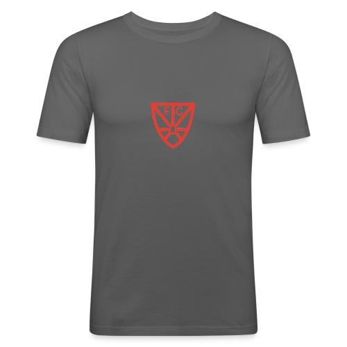 Männer Slim-Fit T-Shirt - verschiedene Farben - mit rotem FCO-Logo - Männer Slim Fit T-Shirt