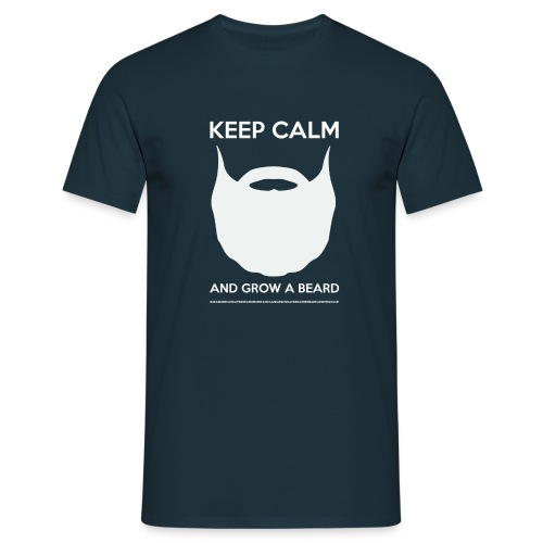 KEEP CALM LOGO BLANC - T-shirt Homme