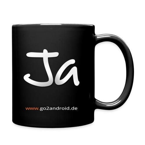 Yes or no Kaffeetasse black (20 Euro Unterstützung) - Tasse einfarbig