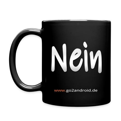 Yes or no Kaffeetasse black (10 Euro Unterstützung) - Tasse einfarbig