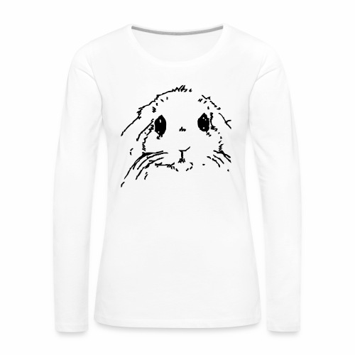 Camiseta mujer manga larga carita de conejo - Camiseta de manga larga premium mujer