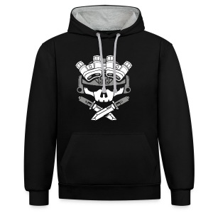 LIGHTS OUT black/white - Contrast Colour Hoodie