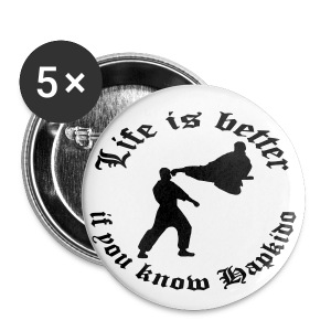 LIB-Hapkido 5er-Pack Pins 25mm - Buttons klein 25 mm