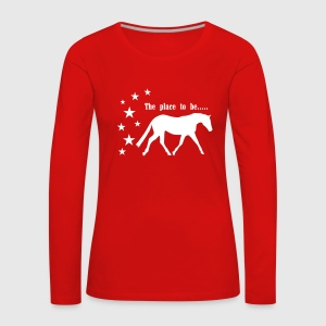 The Pleace to be -- Horse Long Sleeve Shirts - Women's Premium Longsleeve Shirt