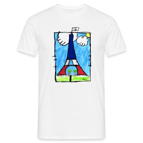 T-Shirt Homme Peace & Paris Tour Eiffel - T-shirt Homme