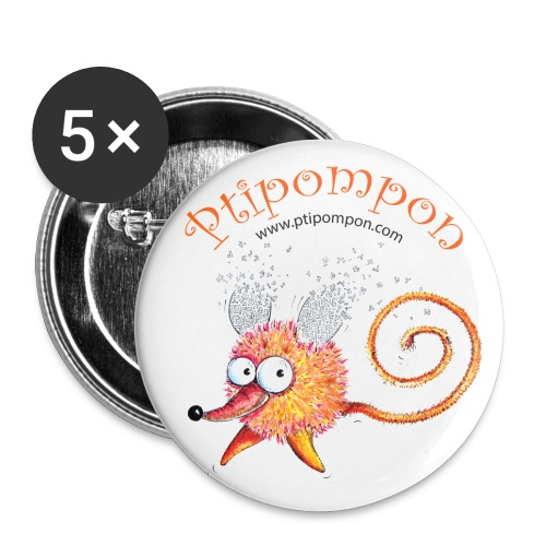 Badge Ptipompon 25mm - Lot de 5 petits badges (25 mm)