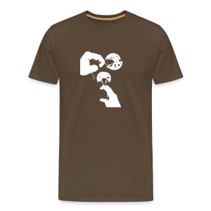 Rock Climbing Face Shirt - Men's Premium T-Shirt