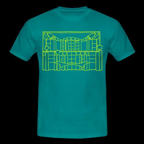 Waschmaschine (Kanzleramt) (neon-gelb) - Männer T-Shirt