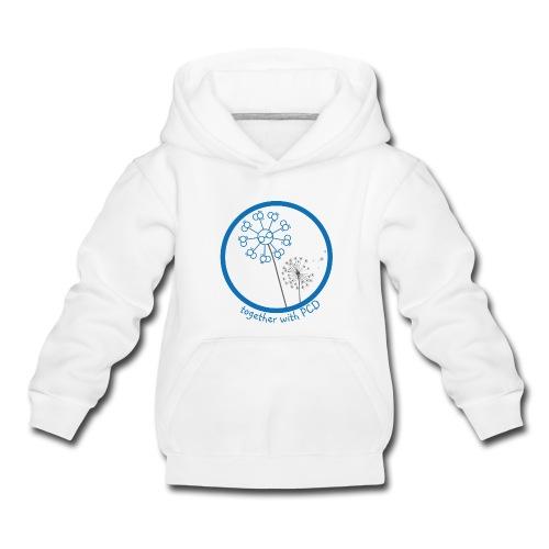 Kapuzenpulli Kinder Pusteblume PCD vorne NUR WEISS MÖGLICH !! - Kinder Premium Hoodie