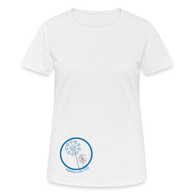 T-Shirt Damen atmungsaktiv Pusteblume PCD unten