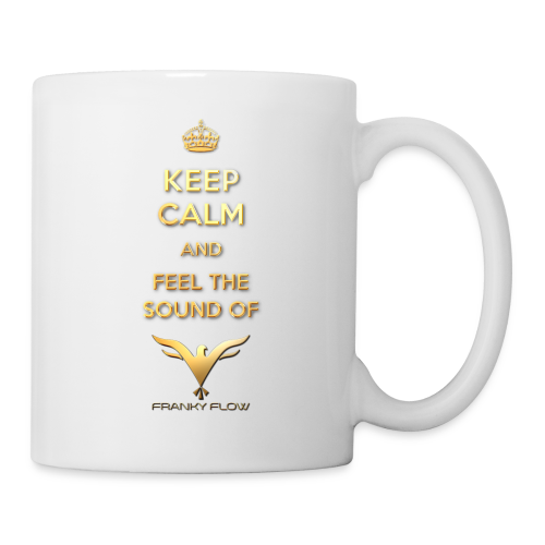 KEEP CALM AND FEEL THE SOUND (white / right-hander) - Tasse