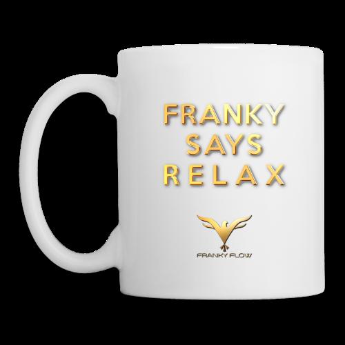 FRANKY SAYS RELAX (white / left-hander) - Tasse