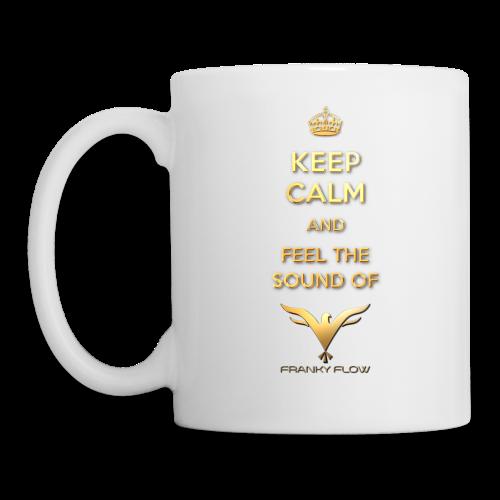 KEEP CALM AND FEEL THE SOUND (white / left-hander) - Tasse
