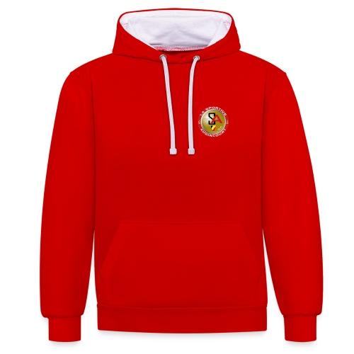 Sweat unisexe à capuche rouge et blanc La Sportive Audincourt - Sweat-shirt contraste
