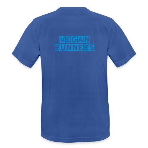 Vegan Runners Sport Tee (on back) - Men's Breathable T-Shirt