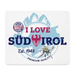 I LOVE SÜDTIROL - Mousepad (Querformat)