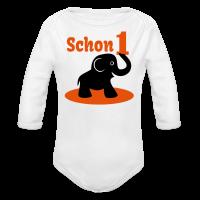 Schon 1 Elefant Baby Langarm-Body