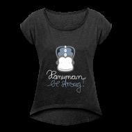 T-Shirts ~ Frauen T-Shirt mit gerollten Ärmeln ~ Hanuman (Stille Edition)