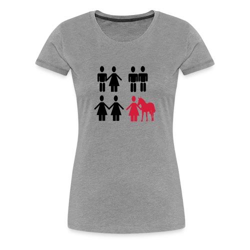 Ich liebe Pferde - Frauen Premium T-Shirt
