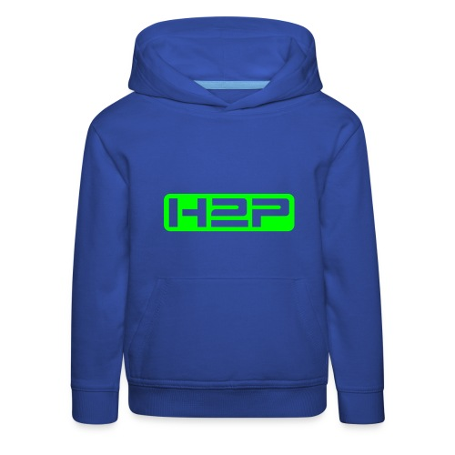 Sweat à capuche enfant H2P New Age (Logo vert néon) - Pull à capuche Premium Enfant