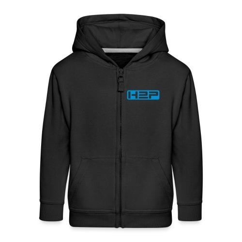 Vest zippée à capuche enfant H2P New Age (Logo bleu) - Veste à capuche Premium Enfant