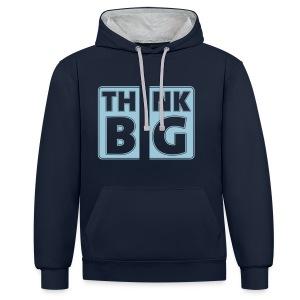 THINK BIG - Kontrast-Hoodie