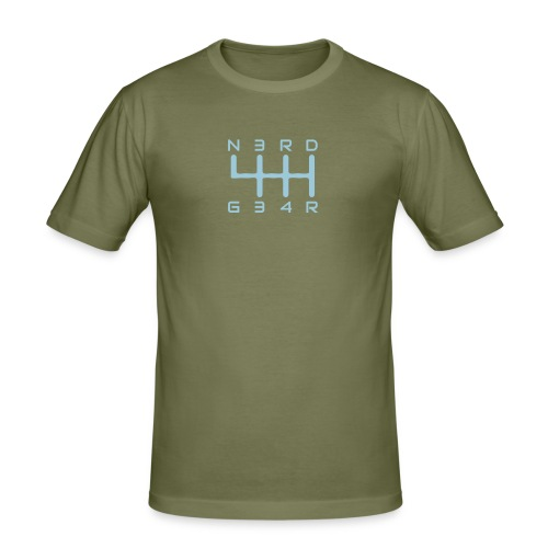 N3RD G34R - Männer Slim Fit T-Shirt - navy - Männer Slim Fit T-Shirt