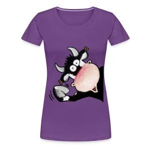 winkende Kuh - Frauen Premium T-Shirt