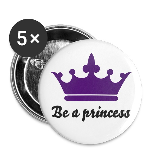 5 badges be a princess - Badge moyen 32 mm