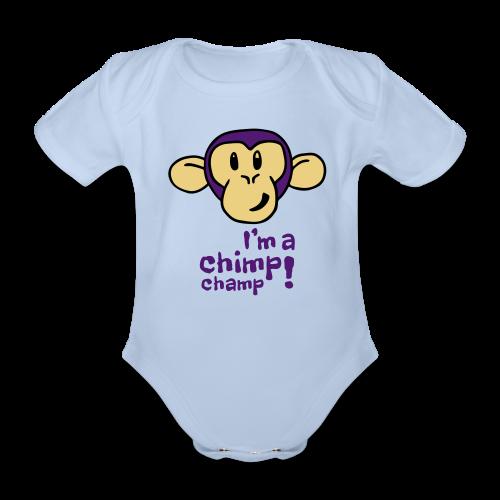 Baby I'm A Chimp Champ Bodysuit - Organic Short-sleeved Baby Bodysuit
