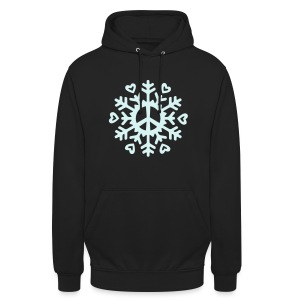 Peace & Love Snowflake - reflective - Unisex Hoodie