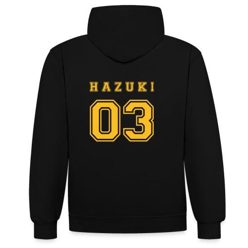 Hazuki - Contrast Colour Hoodie