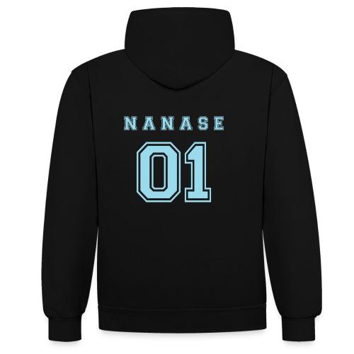 Nanase - Contrast Colour Hoodie