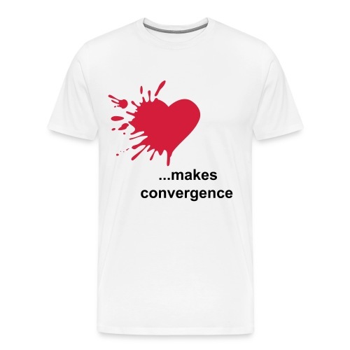 Love makes convergence  - Männer Premium T-Shirt