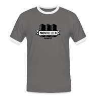 T-Shirts ~ Männer Kontrast-T-Shirt ~ Monozellen Girlieshirt, Grau