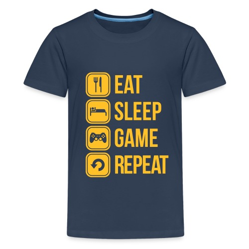 Teenager Eat, Sleep, Game, Repeat t-shirt - Teenage Premium T-Shirt