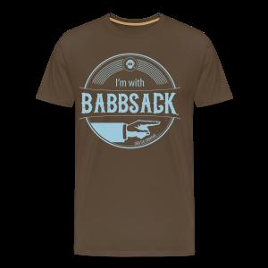 I'm with Babbsack - Männer Premium T-Shirt