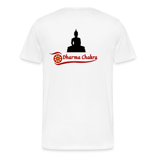 Buddha schwarz / Dharmachakra - Männer Premium T-Shirt