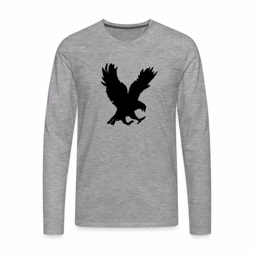 Camiseta hombre manga larga águila - Camiseta de manga larga premium hombre