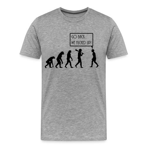 Freizeitshirt Evolution - Männer Premium T-Shirt