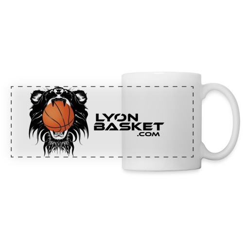 Tasse Panorama Logo Lyon Basket Noir - Mug panoramique contrasté et blanc