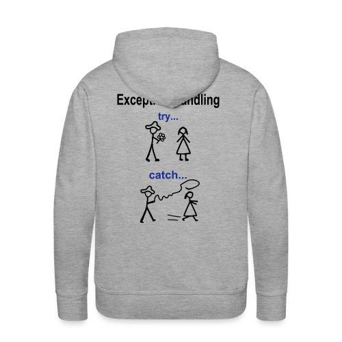 Java Exception Handling Männer Hoodie - Männer Premium Hoodie