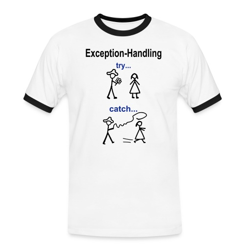 Java Exception Handling Männer T-Shirt - Männer Kontrast-T-Shirt